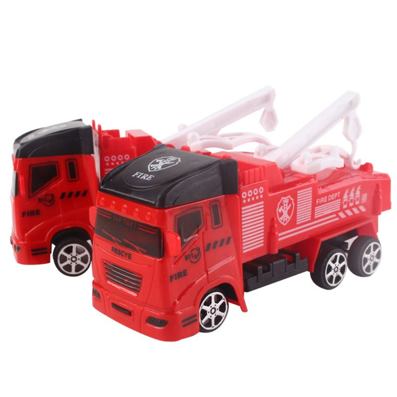 Diecasts & Toy Vehicles 2019 Latest Design Fire Truck Fireman Vehicle Car Pull Back Toy Car Model Educational Toys Boy Kids Toy Birthday Gift Box Boy Diecasts Toy Vehicles Matching In Colour