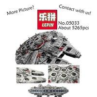 LEPIN 05033 5265pcs Star Wars Ultimate Collector S Millennium Falcon Model Building Kit Blocks Bricks Fun