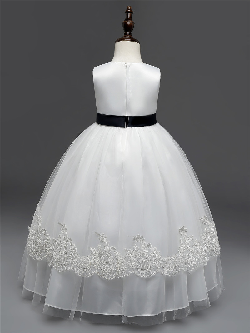 Beauty Emily White Flower Girl Dresses For Weddings And Party Events