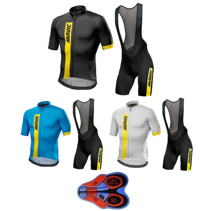 2019 New Brand Summer Team Bicycle Bike jersey MAVIC Anniversary Special Edition cycling Sets Men Cycling Jersey Clothing