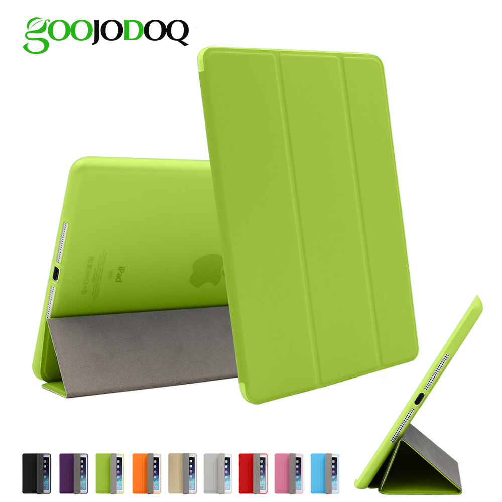 GOOJODOQ Silicone Soft Case for iPad 9.7 2018 2017, PU Leather Smart Cover Auto Wake/Sleep for Apple iPad 6th/5th Gen Case turtle kazoo kids case for ipod touch 5th gen