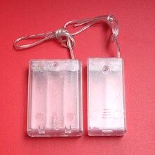 1Pcs 2x 3x שקוף תיבת סוללה עם כיסוי כבל מתג DIY AA סוללה מחזיק AA 4.5V תיבת עבור נטענת סוללות