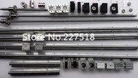 6 Sets Linear Rail SBR16 L300 1500 1500mm SFU1605 350 1550 1550mm Ball Screw 3 BK12