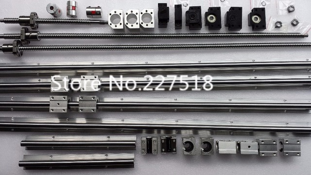 6 sets linear rail SBR16 L300/1500/1500mm+SFU1605-350/1550/1550mm ball screw+3 BK12/BF12+3 DSG16H nut+3 Coupler for cnc