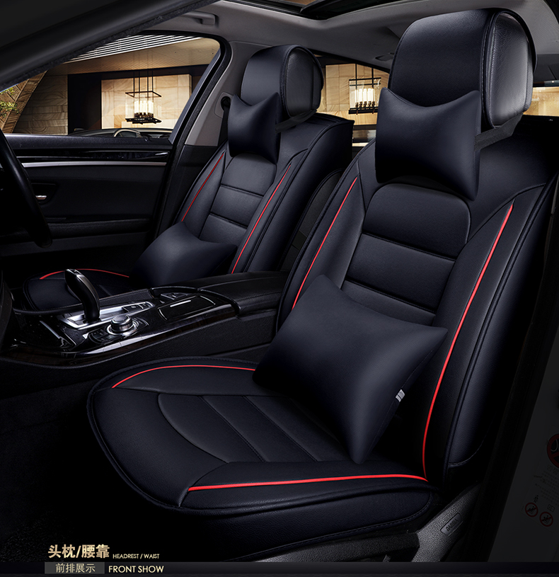 Wear-resisting waterproof pu leather car seat covers for bmw e46 f20 mercedes w203 w204 audi A4 universal front rear full seats wear resisting waterproof pu leather car seat covers for kia rio sportage suzuki grand vitara universal front rear full seats