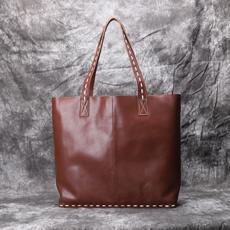Wildleder Original Handtasche Schwarzes Trend Schulter Große Retro Handtaschen Temperament Tasche Bjyl Handgemachte Leder brown Mode Fd18d0wx