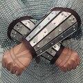 [Cavaleiro] armband slats carregado com placa de armadura 1.8mm couro do corte da mão um par de anti-armadura