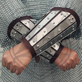 [ Knight ] armband slats loaded with armor plate 1.8mm cowhide hand cut one pair of anti- armor