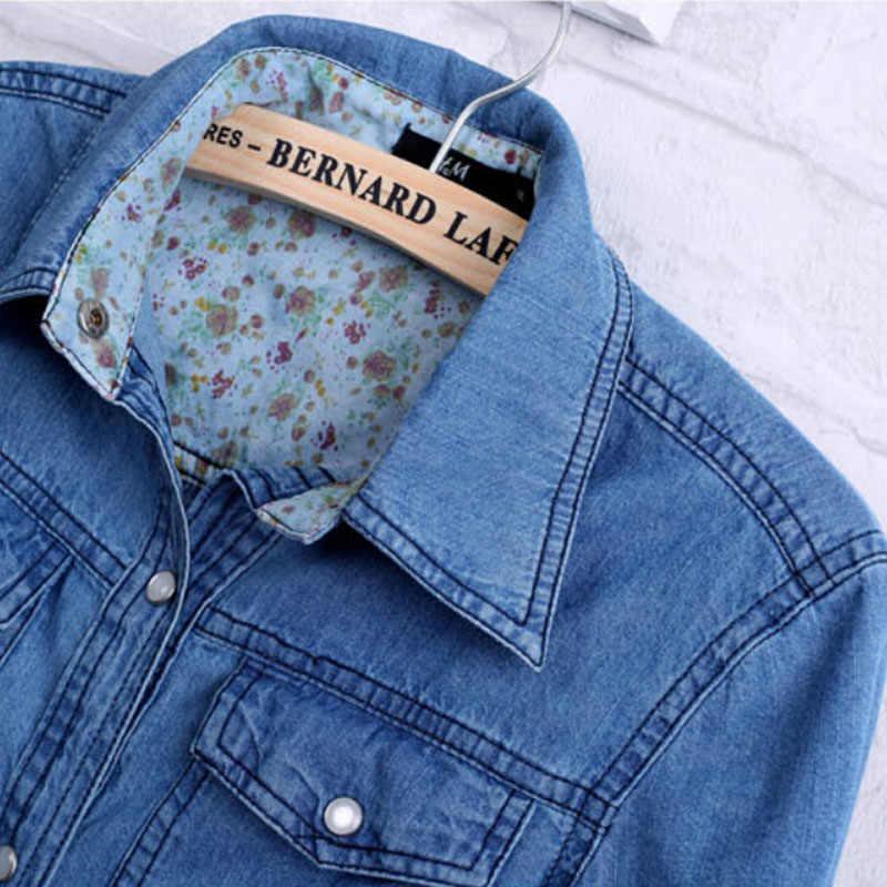 309ada9d7 ... Free Ostrich 2019 Women Clothes Blouse Long Sleeves Denim Shirt  Nostalgic Vintage Blue Jeans Shirt Camisa ...