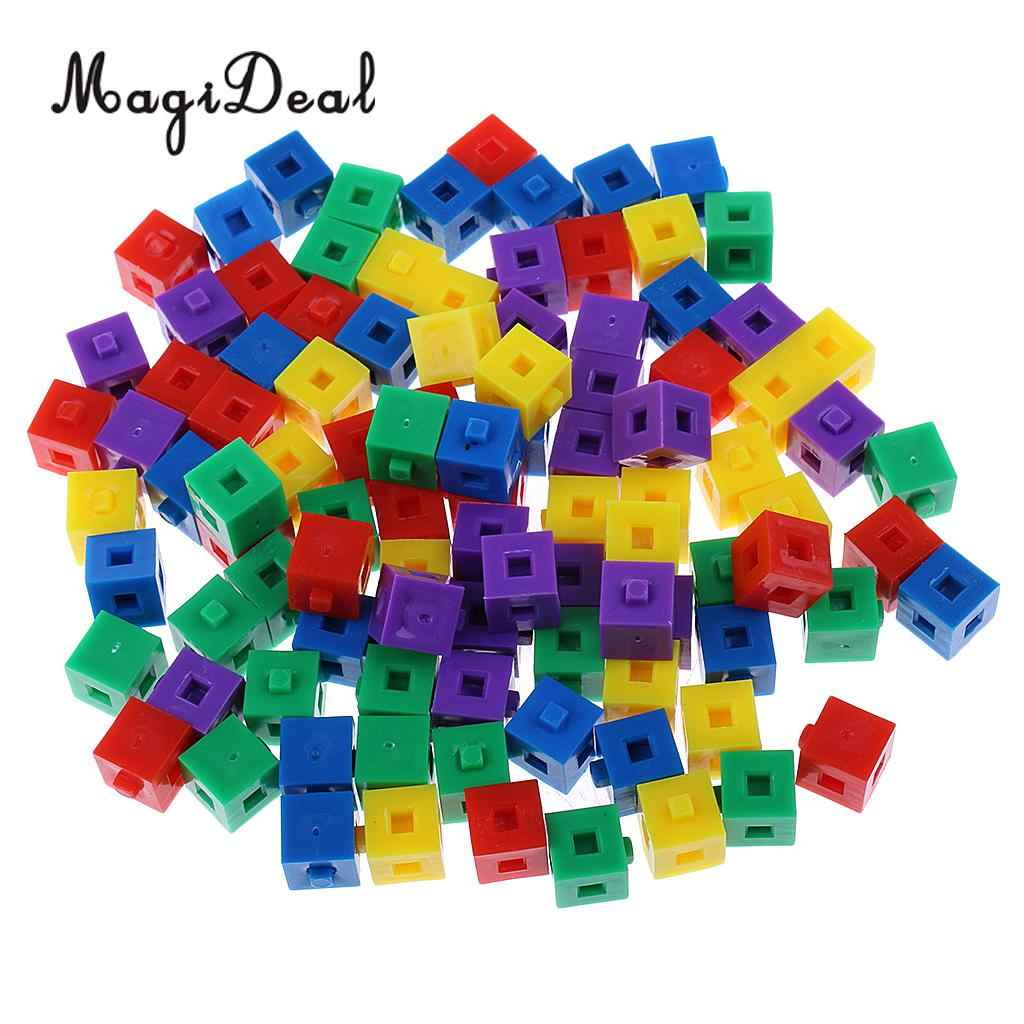 Counting Cubes New pack-100 1cm coloured plastic cubes for arithmetic /& volume