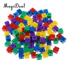 Пластиковые Детские кубики MagiDeal, 100 шт./упак., для детей, для укладки, для создания кубиков, для вечерние, веселых, интеллектуальных игрушек, 1 см