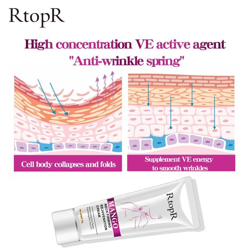 RtopR Neck Firming Rejuvenation Cream Anti-wrinkle Firming Skin Whitening Moisturizing Neck Serum Mild Peeling Beauty Neck Care 3