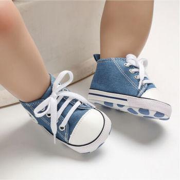 Nowe chłopięce dziewczęce szopka buty tenisowe brezentowe buty tanie i dobre opinie CANIS Crib shoes COTTON Unisex Patchwork Wszystkie pory roku Lace-up Dla dzieci Pasuje prawda na wymiar weź swój normalny rozmiar