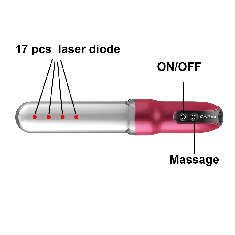 Household small vibrator massage against loose vaginal tightening vaginal wall physical laser therapy gyn home use remedy