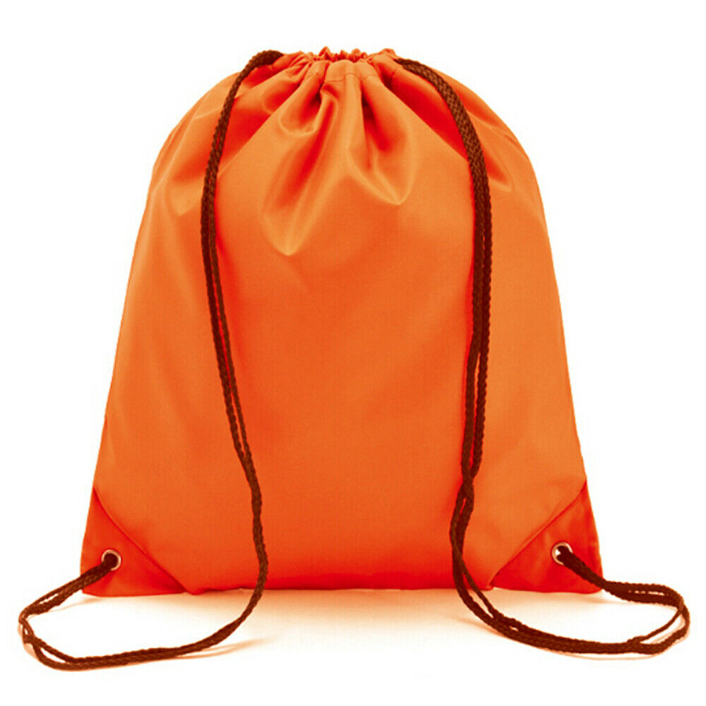 String Drawstring Back Pack Cinch Sack Gym Tote Bag School Sport Shoe Bag NEW