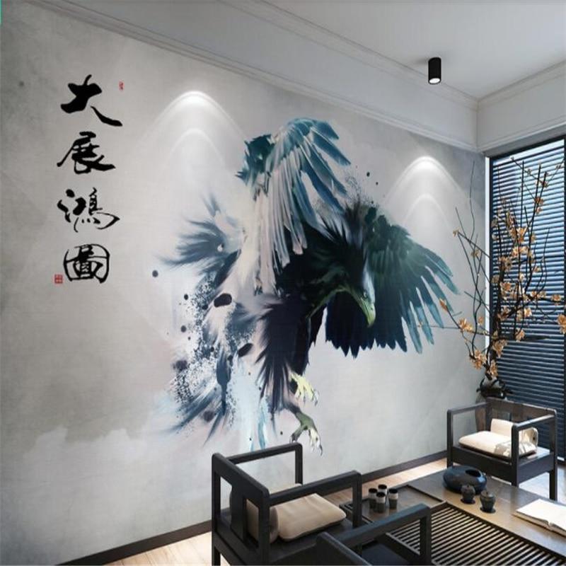 Beibehang Mural Custom 3D New China Abstract Grand