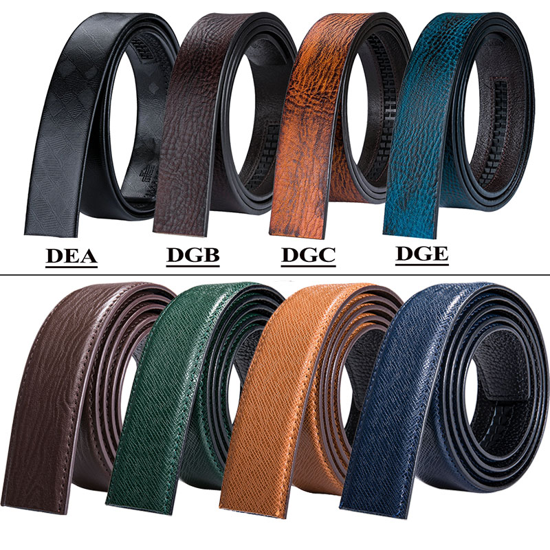 11 Colors Cow Genuine Leather   Belt   without Buckle Automatic Replacement   Belt   Brown Blue Black Mens Business Ratchet   Belt   3.5cm