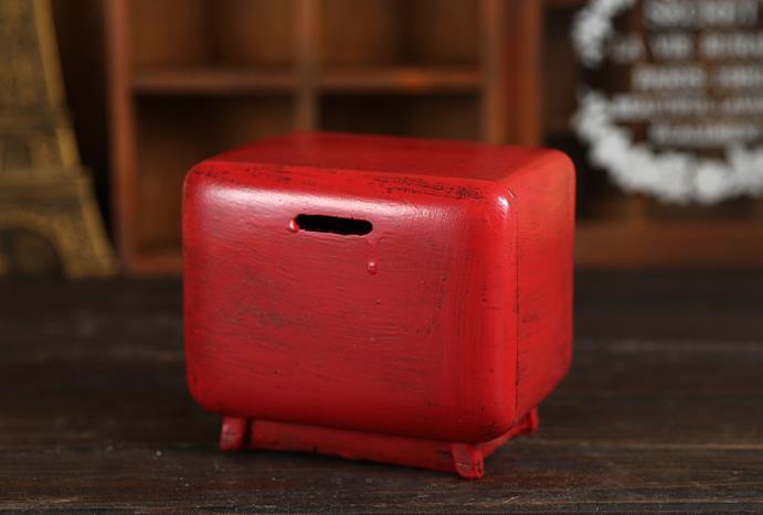 Mini Resin Retro TV Model Antique Imitation Saving Piggy Bank ...