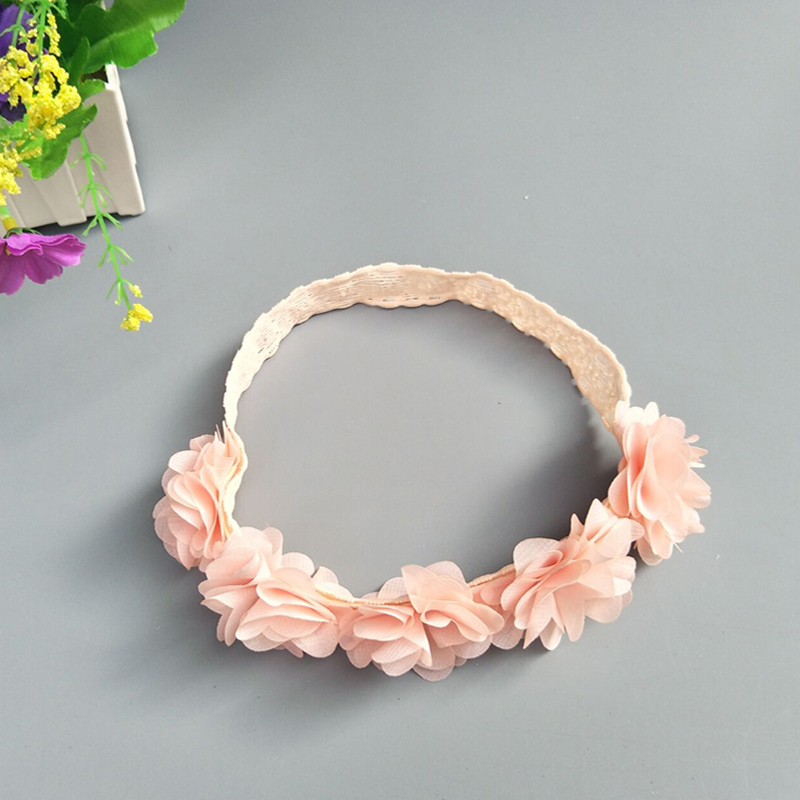 370ec8d80 M MISM Newborn Chiffon Flower Headbands Lace Hollow out Hair Bands Sweet  Cute Head Wrap Hair Accessories For Party Photography