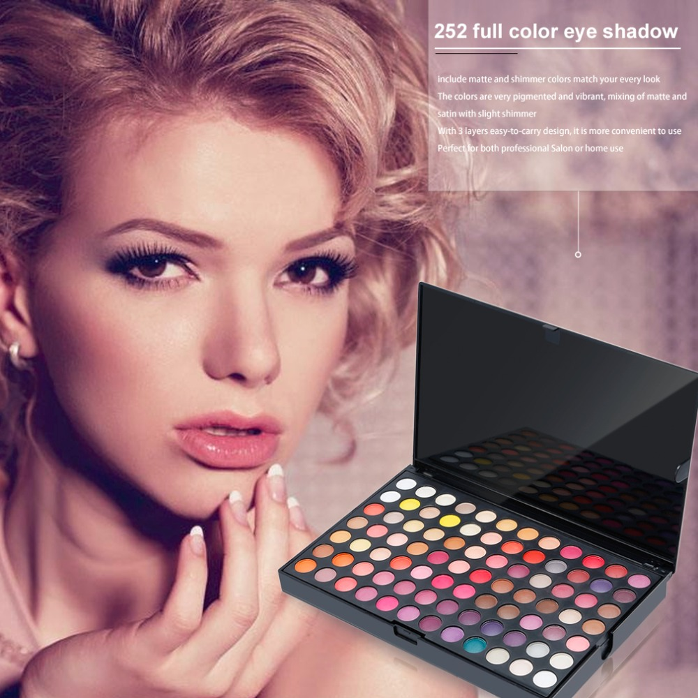 Full Professional 252 Colors Eye Shadow Palette 3 Layers