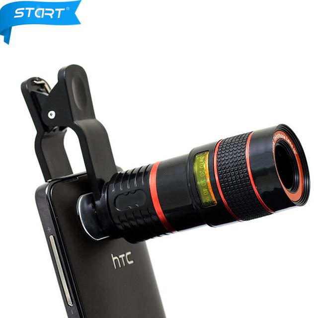 Envío gratis 8x 8x lente zoom telescopio óptico de la cámara del teléfono para xiaomi redmi 3 s xiaomi redmi note 2 note 3 nota 4 lente lente