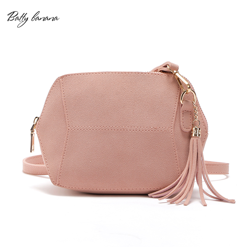 BATTY BANANA Fashion Messenger Bag Womens Small Clutch Bag Female 2018 Solid Crossbody Bags For Women Tassel Purses and Handbags cute women s crossbody bag with weaving and banana shape design