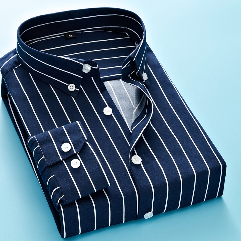 Business Striped Casual Long Sleeved Shirt 1