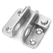 5pcs Stainless Steel Left/Right Door Padlock Latch Anti Theft Lock Buckle Bolt smart door lock cerradura недорого