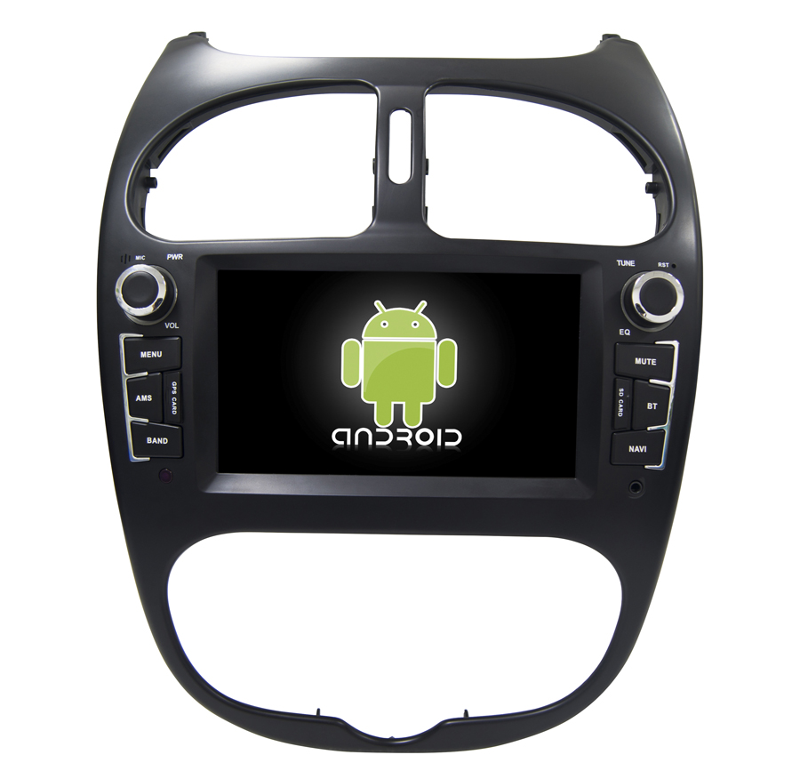 Navirider Android 8.1.0 Octa Core Car Dvd-speler Voor Peugeot 206 Gps + Glosnass Multimedia Head Unit Stereo Autoradio