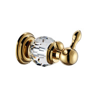 Bathroom Shower Towel Robe Hooks Brass Glass Crystal Nickel Brush Gold Wall Mount Toilet Furnitures Bathroom Set GJQC2202A