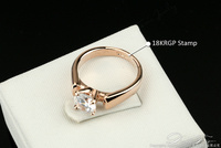 Double Fair 1.25 Carat Round Cut Cubic Zircon Engagement Rings Silver/Rose Gold Color Wedding Jewelry For Men/Women Anel DFR054 3