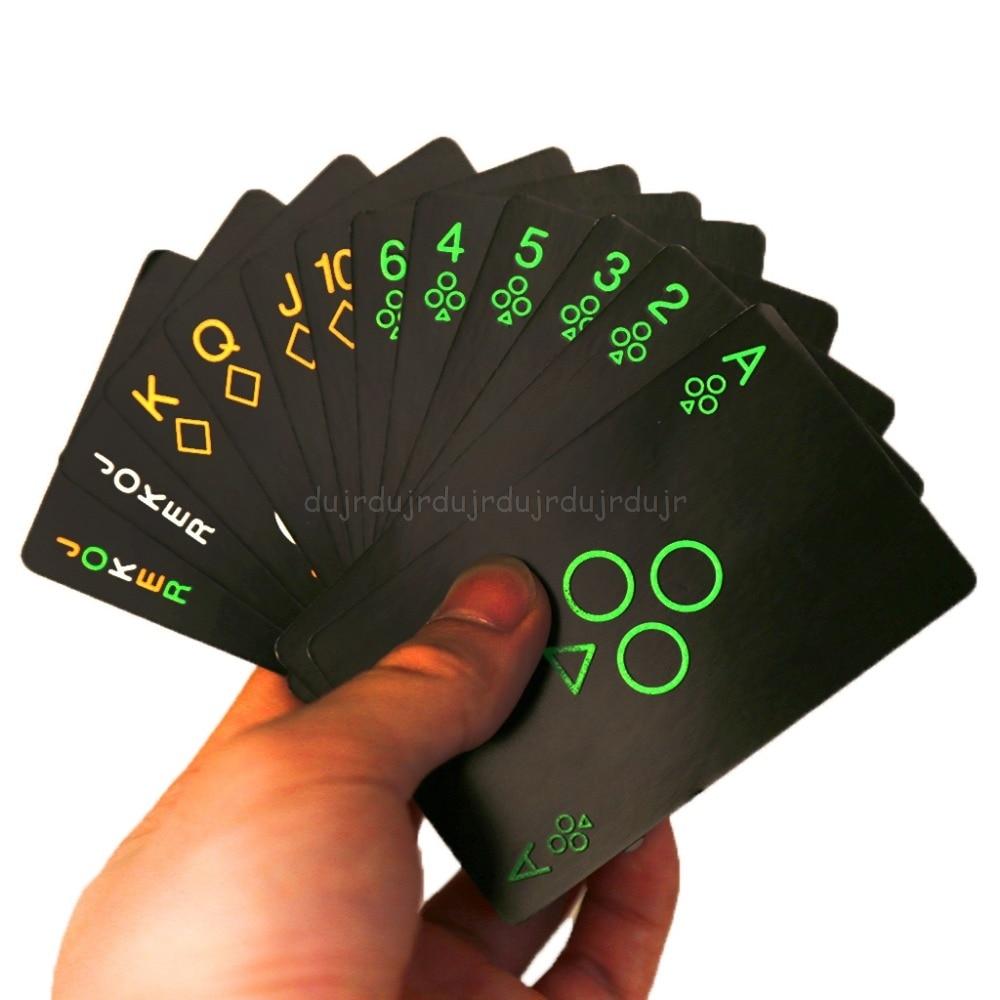 Cartas de póquer fluorescentes luminosas negras que brillan en la oscuridad Bar fiesta KTV noche luminosa colección póquer especial N20 Todas las LGD de Eve de Hallow alargan el ProxyKing de mago 8,0 VIP las tarjetas proxy para recoger cada tarjeta de mg.