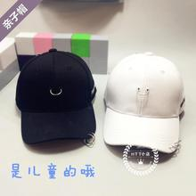 Children in Korea GD Quan Zhilong with black ring ring spring duck tongue hat pin chain hip-hop family cap
