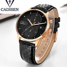2017 Top Brand CADISEN Watches Men Genuine Leather Wristwatch Class Date Mens Army Clock New Desingn Relogio Masculino