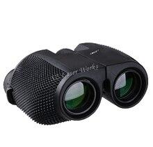 무료 배송 높은 시간 10X25 HD 모든 광학 녹색 필름 방수 쌍안경 망원경 관광 쌍안경 뜨거운 판매