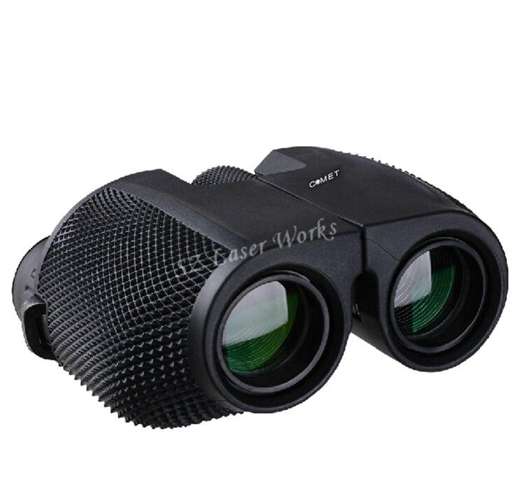 Envío gratis de alta calidad 10X25 HD todo-óptico verde película impermeable binoculares telescopio para turismo binoculares gran venta
