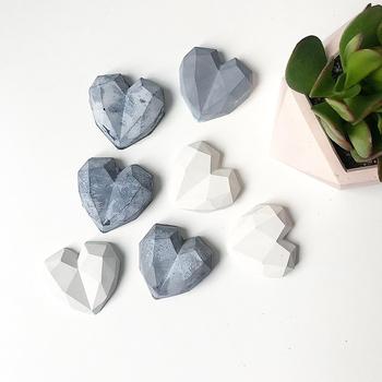 Diamentowe serce silikonowe formy betonowe mydło wyrabiane ręcznie formy gipsowe serce formy tanie i dobre opinie silicone P001
