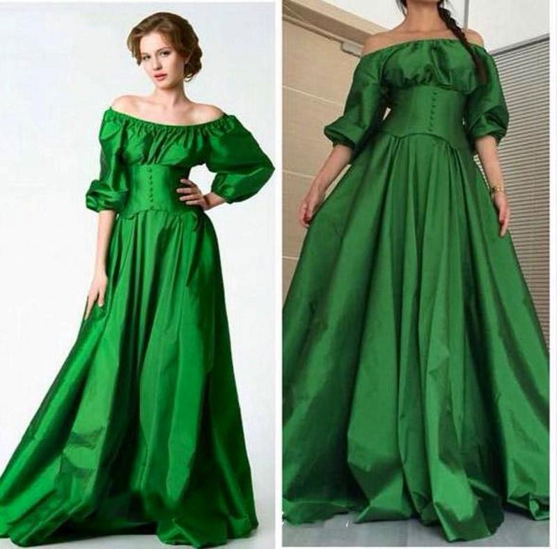 Aliexpress.com : Buy Saudi Arabic Emerald Green Prom Dresses 2017 ...