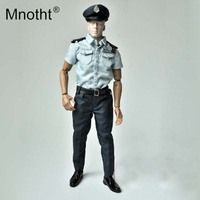 Mnotht 1/6 Scale Soldier Accessories Hongkong police Short sleeved suit Clothes Fit For 12in Male Body Action Figure model m3