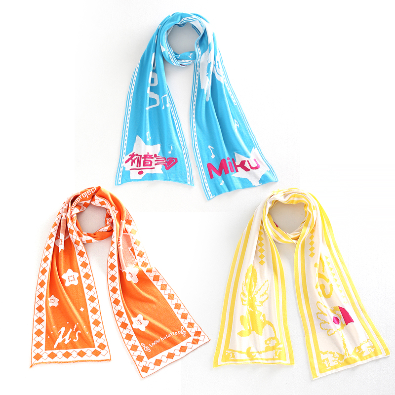 Anime Vocaloid Hatsune Miku/Card Captor/Lovelive Cosplay Costume Accessory Kawaii Long Knitting Boas Scarf New