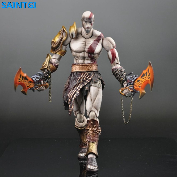 SAINTGI God of War Ghost of Sparta Kratos PVC 23CM Action Figure Collection Game Model Dolls Kids Toys Free Shipping