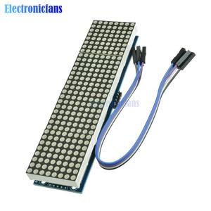 Image 3 - MAX7219 LED متحكم صغير 4 في 1 عرض مع 5P خط نقطة مصفوفة وحدة 5 فولت التشغيل الجهد لاردوينو 8x8 نقطة مصفوفة مشتركة