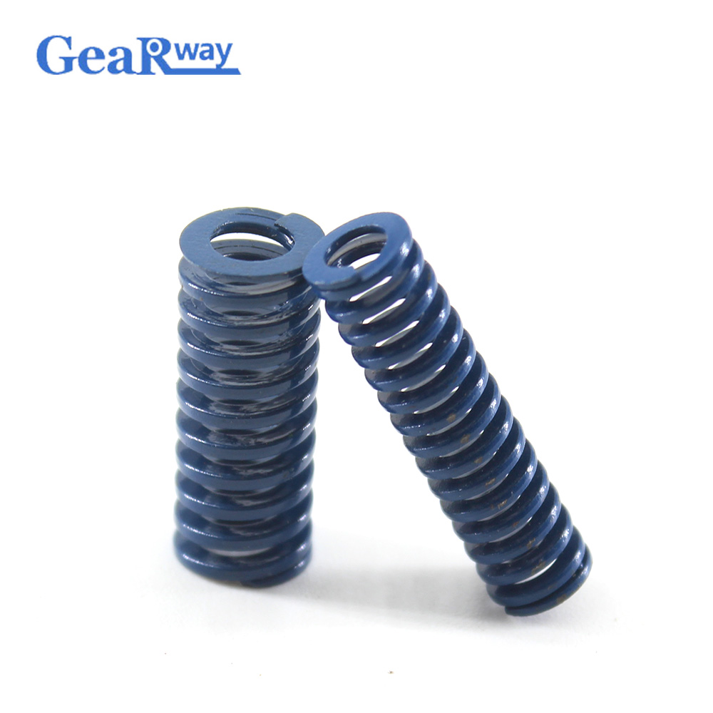 Gearway Blue Die Spring Long TL30x30/30x35/30x40/30x55/30x60mm 48% Compression Ratio Spiral Stamping Compression Die Spring