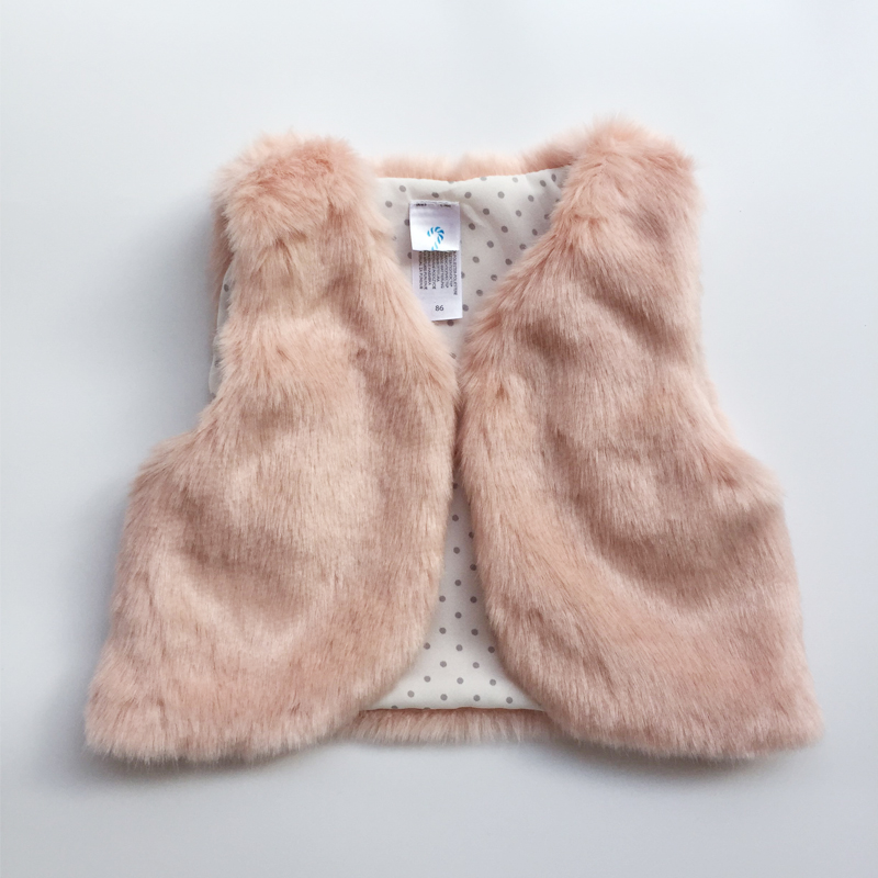 2017 Autumn Winter Baby Sleeveless Faux Fur Vest Baby Girl Winter Waistcoat Fur Vest For Baby Clothing hot sale women vest winter faux fur vest soft women fur jacket sleeveless casual outwear winter fur vest