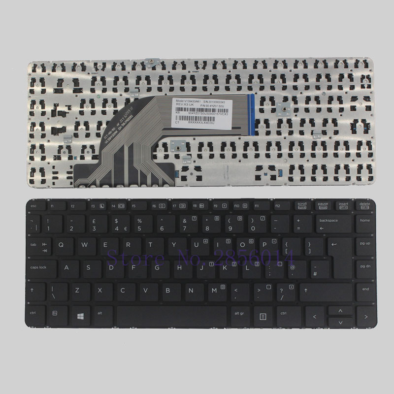 New UK Laptop keyboard for HP ProBook 640 440 445 G1 G2 640 645 430 G2 UK black keyboard without frame ваза 26 см х 17 см х 26 см