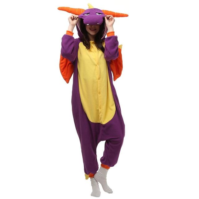 Unisex Adult Anime Spyro Dragon Polar Fleece Cosplay Costume Pajamas Party Onesies Pyjamas Sleepwear Fancy Dress  sc 1 st  AliExpress.com & Unisex Adult Anime Spyro Dragon Polar Fleece Cosplay Costume Pajamas ...
