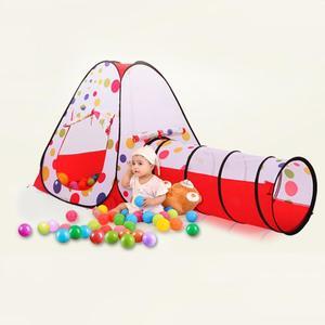 Image 2 - Przenośny Pool Tube tipi Baby 3pc duży namiot do zabawy namiot składany dom zabaw dla dzieci tunel do indeksowania piłka oceaniczna namioty do zabawy