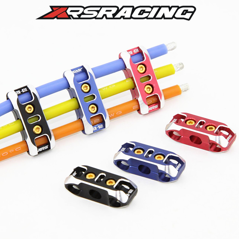 XRSRACING CNC Hardened ESC Motor Battery 12AWG 10AWG BLUE/BLACK/RED Connector Silicone Wire Finishing For 1/8 1/10 Rc Car