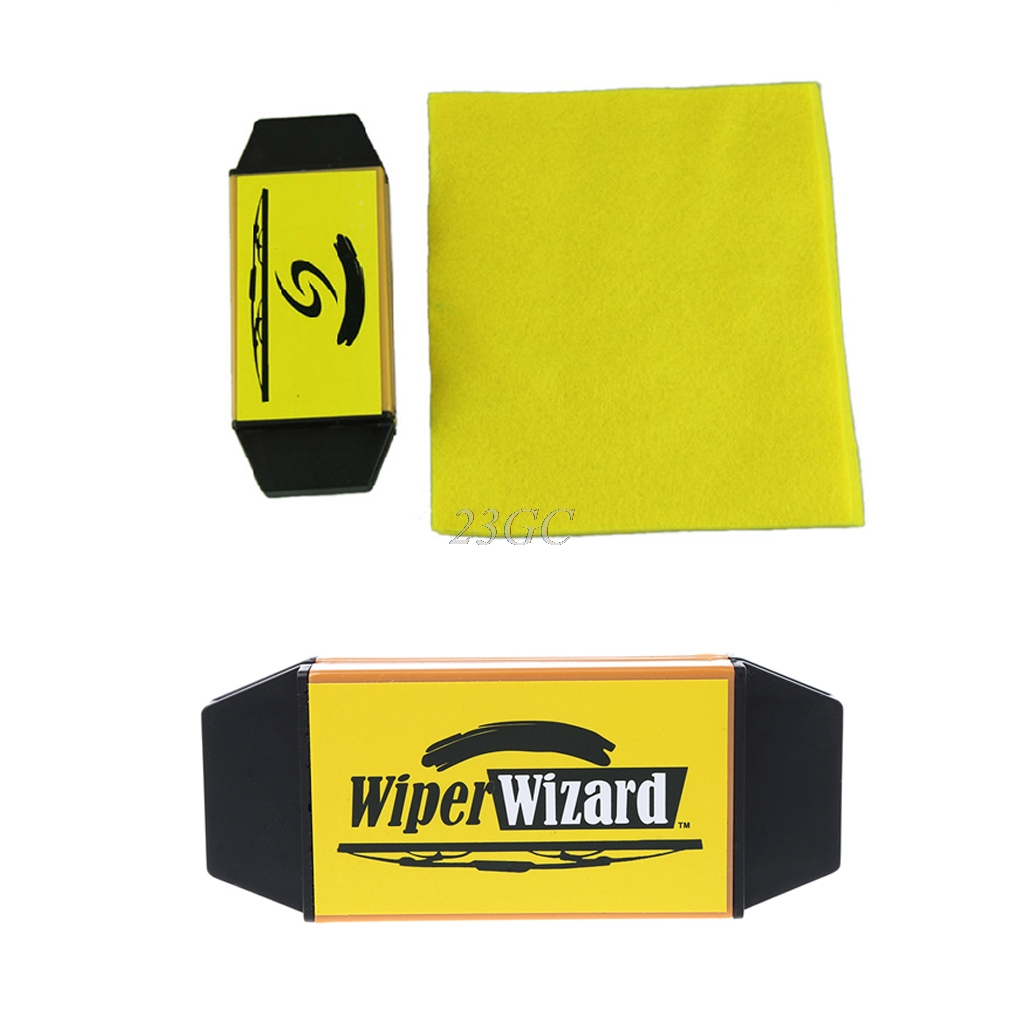 Wiper Cleaning Brush Car Van Wiper Wizard Windshield Wiper Blade Restorer Cleaner With 5pcs Wizard Wipes D22