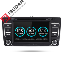 Isudar Автомагнитола 2 din с 7 дюймовым экраном на Android 8.1.0 для автомобилей SKODA/Octavia 2009-2013 Canbus 2GB RAM 16GB ROM FM Радио USB Навигация мультимедиа